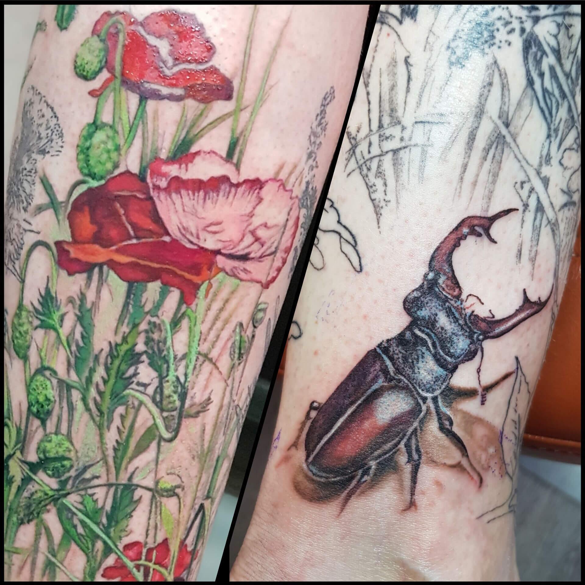 Studio tatuażu Gdańsk Alicja Mazur_flora i fauna